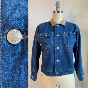 Polo Jeans Co Denim and Corduroy Collar Jacket